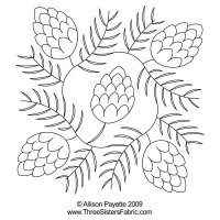 Pine Cone Wreath Block