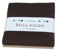 Bella Solids Charm Pack by Moda, Brown, SKU 9900PP 71