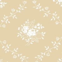 "108"" Wide Backing, White/Teastain, Bouquet, SKU 30510"