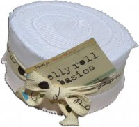 Bella Solids Jelly Roll by Moda, Milk, SKU 9900JR 98