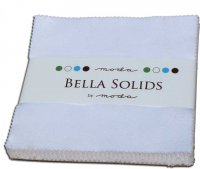 Bella Solids Charm Pack by Moda, White, SKU 9900PP 98