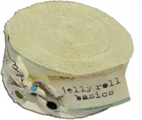 Bella Solids Jelly Roll by Moda, Snow SKU 9900JR 11