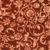 "108"" Wide Backing, Tonal Scroll, Rust, SKU 47604-1301"