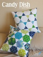 "Candy Dish 16"" Square Pillows by Jaybird Quilts"