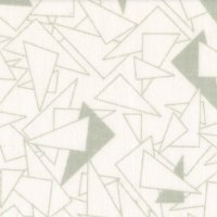 "108"" Wide Backings, White/Grey Geometric Triangles SKU 48504-GW"