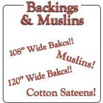 Backings and Muslins